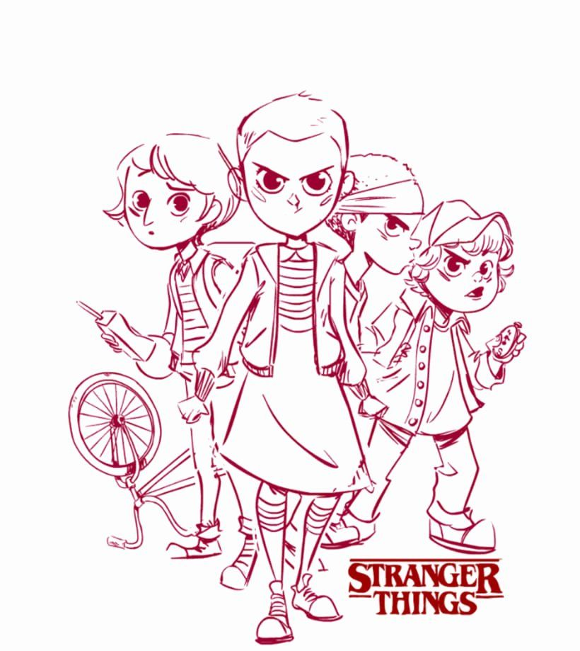 Stranger Things Coloring Book In  With Images Stranger