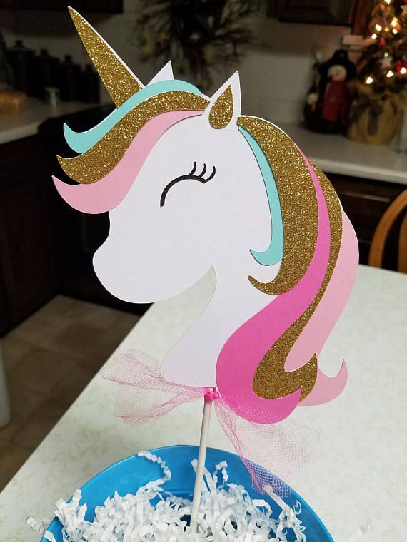 Unicorn Cake Topper Unicorn Birthday Banner Unicorn Pary