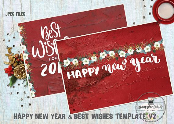 new year photoshop templates cards greeting cards photoshop templates custom mix media new year cards new year illustrated cards psd