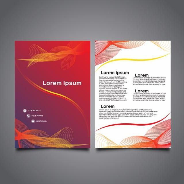 Colorful Business Brochure Template Leaflet Template Brochure Design Template Brochure Template