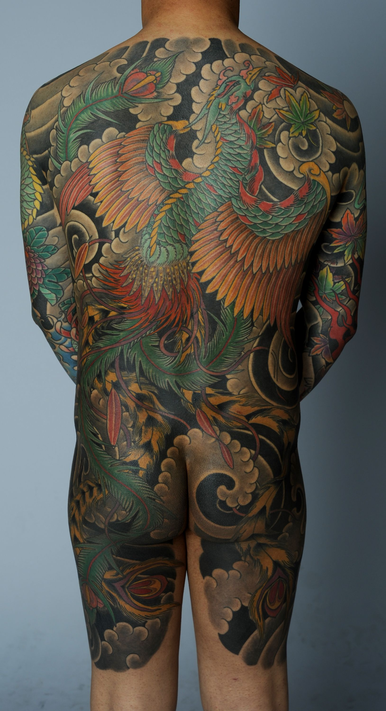 japanese phoenix back piece by david sena japanese tattoo work pinterest phoenix tattoo. Black Bedroom Furniture Sets. Home Design Ideas