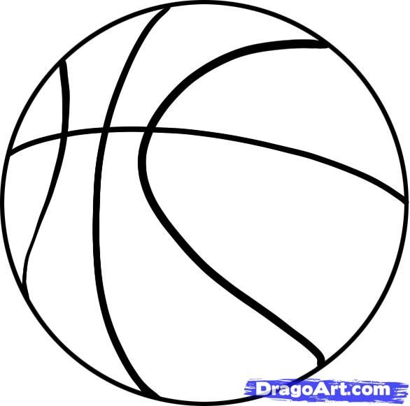 drawings of basketball google search - Easy Sports Drawings
