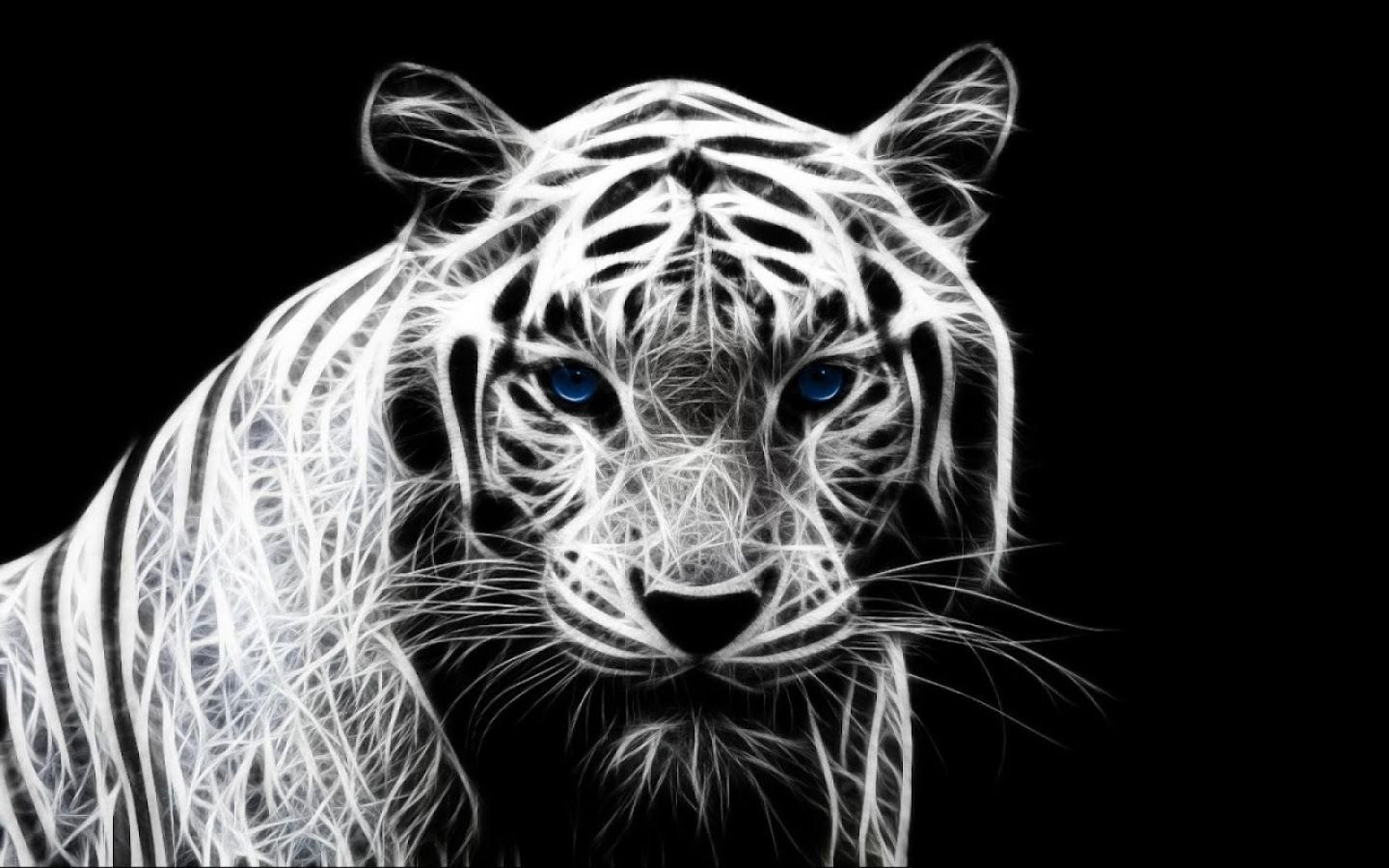 3D White Tiger Wallpaper
