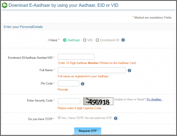 How To Download Eaadhar Aadhar Card Card Downloads Cards