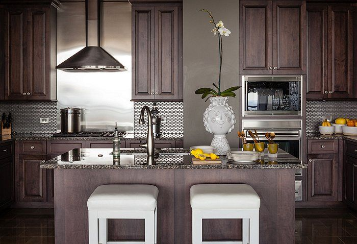 Lee'S Kitchen Cabinet & Stone Inc chocolate stained cabinets | cabinets, chocolate brown kitchen