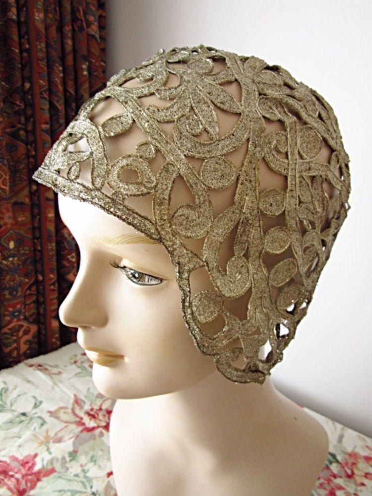1920s  GILT  WIRE CLOCHE HAT £178