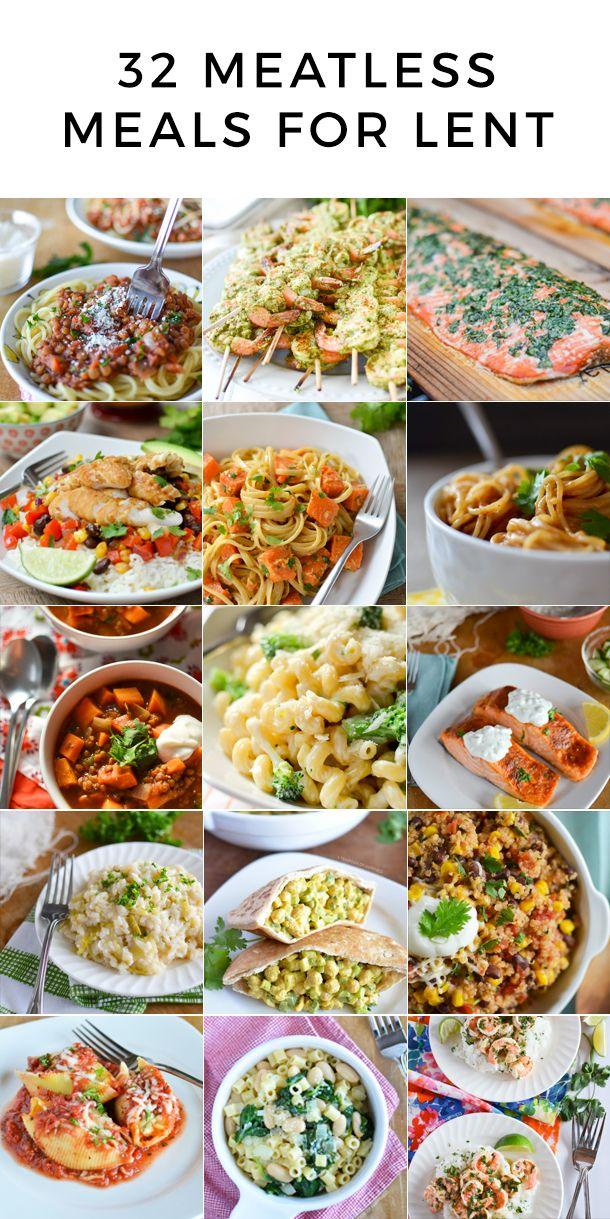 32 Meatless Meals For Lent Lent Recipes Lenten Recipes Meatless Meals