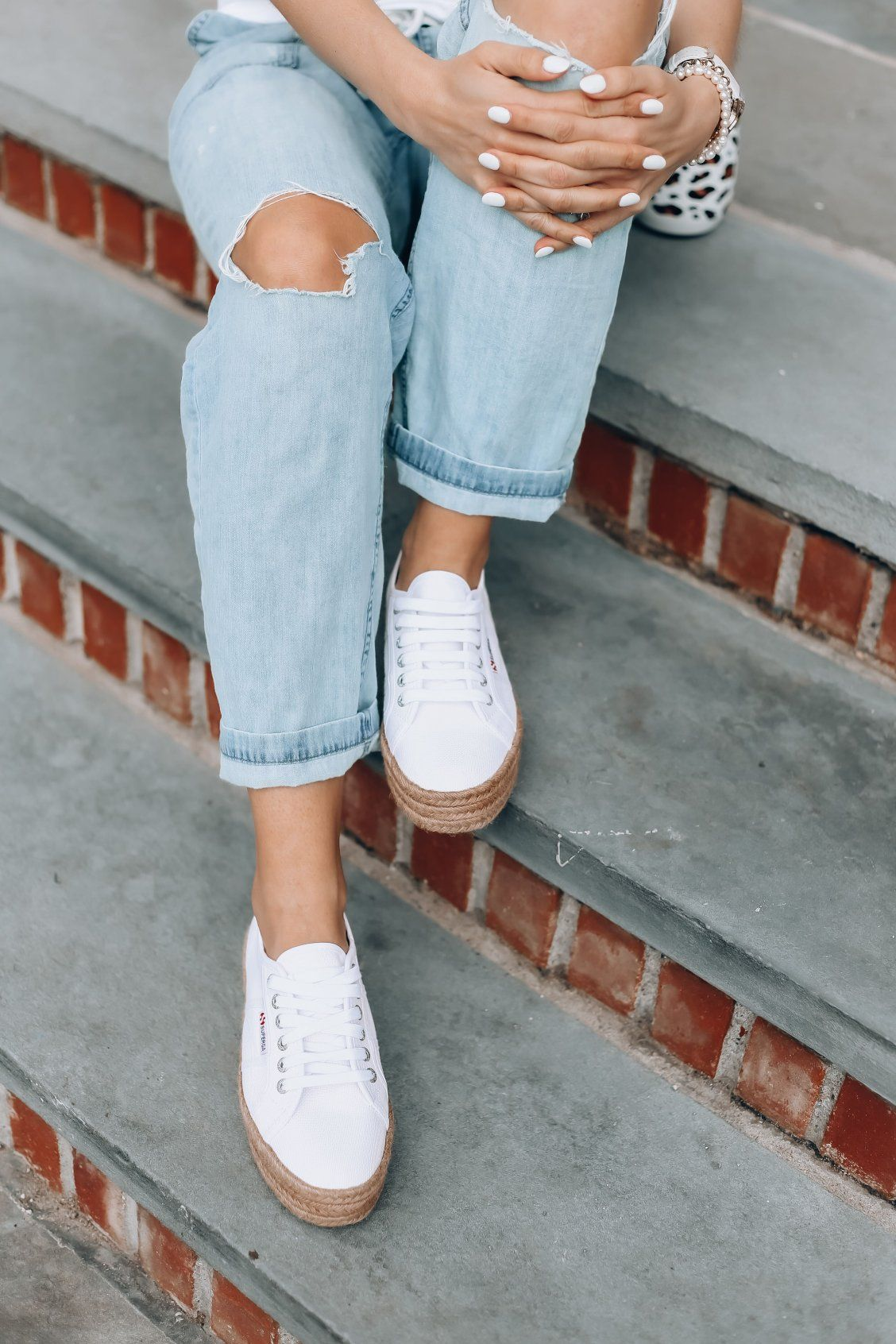 Platform sneakers, Espadrilles