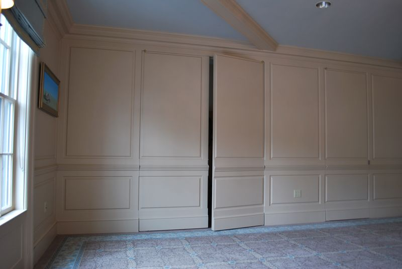 Wainscoting Raised Panel Walls With Hidden Door : wainscoting door - pezcame.com