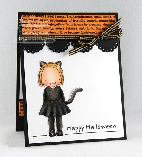 Pure Innocence Kitty Costume; Trick or Sweet; Blueprints 6 Die-namics - Michele Boyer