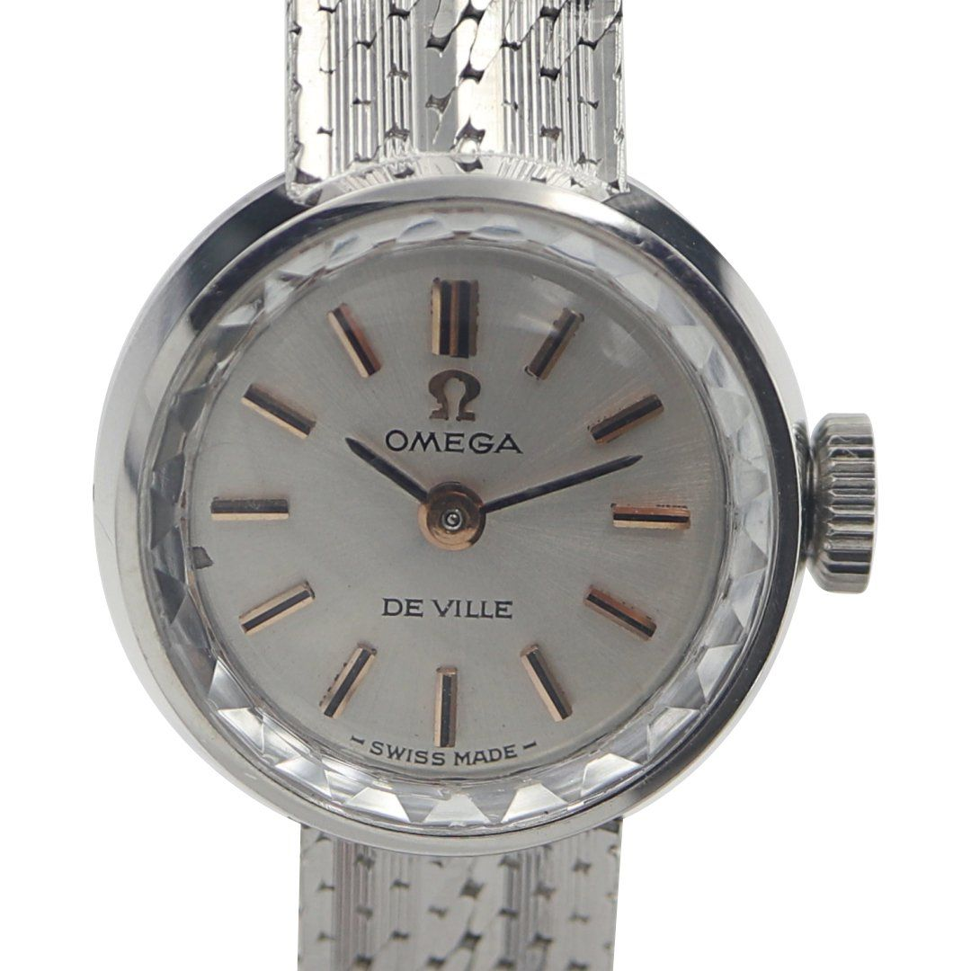 Omega De Ville 18k White Gold Ladies Vintage Watch Vintage