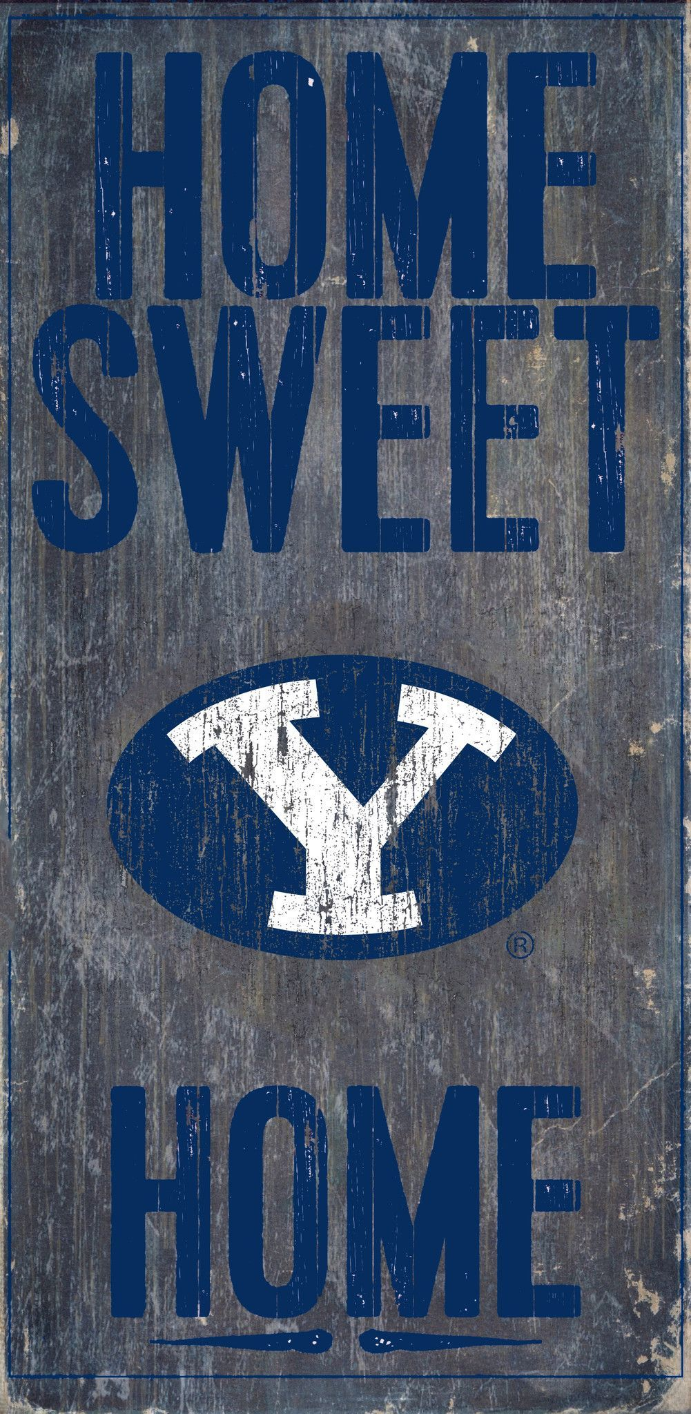 Byu Cougars Wood Sign Home Sweet Home 6x12 Backorder Sweet Home Home Wall Art Wood Signs