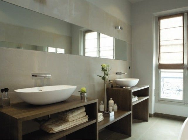 1000 images about salle de bain contemporaine on pinterest contemporary bathrooms bathroom inspiration and large bathtubs - Salle De Bain Contemporaine Bois