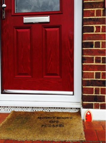 The irish fairy door company beautiful red fairy door for Irish fairy door ideas