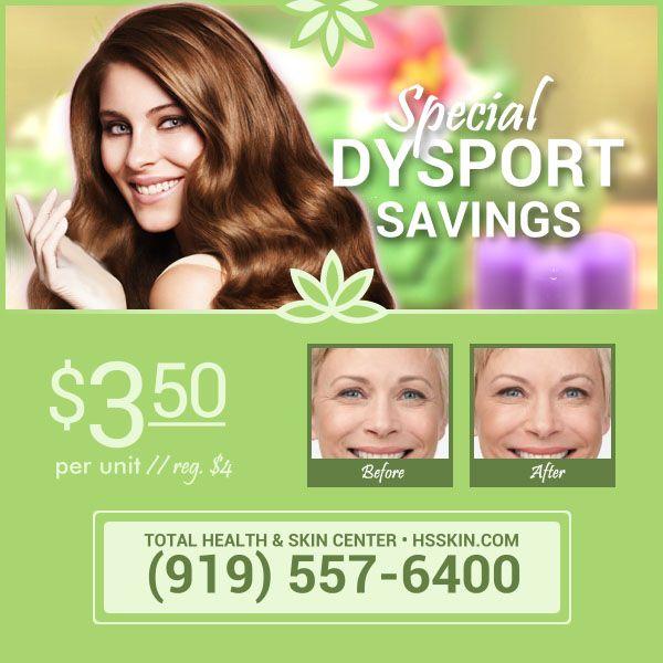 Dysport Offer Skin Center Skin Health Spa Specials