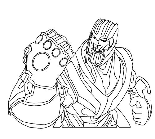 Thanos Ausmalbilder Erkek Modasi