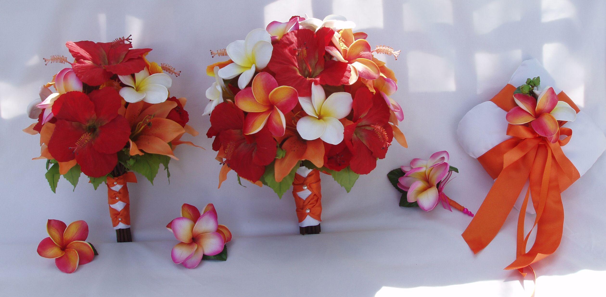 Hibiscus Bouquet Wedding Hibiscusandplumeriabouquet Amberly