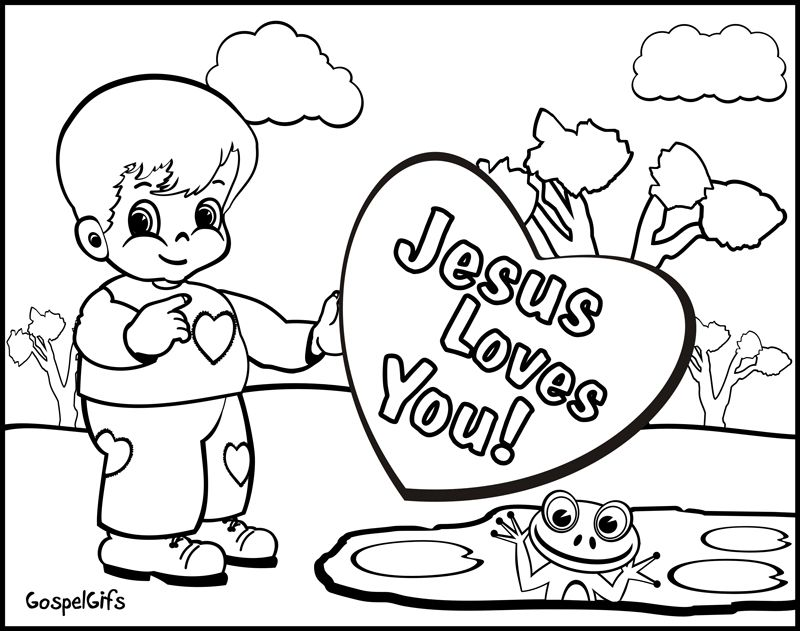 christian child coloring pages free - photo#5