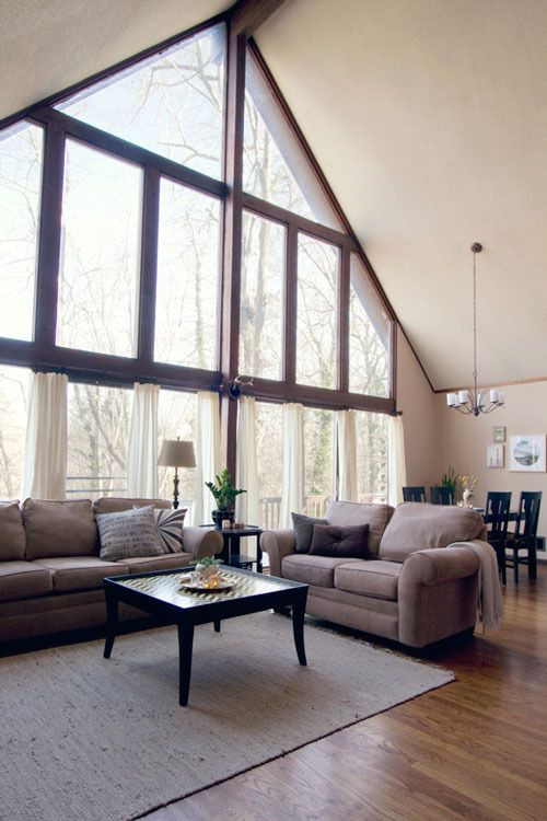 Windows Living Room Windows Living Room White Trendy Living Rooms