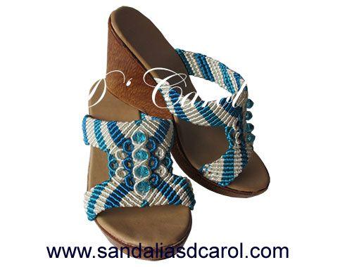 Sandalias macramé Dcarol Casual franjas Clave: 014 a $499.00