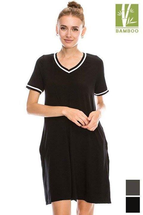 Neckline Contrast Detail solid short sleeve Dress With Pockets    Style #44016  Try Dress: http://ift.tt/2dMYI7q  Like --------------------------------------------------------------- #cocolove #dress #dresses #tanboocelBambooDress #bambooviscose #bamboo #viscosebamboo #fallcloset #highfashion #stylist #styleish #fashion #fashionista #newstyle #newarrivals #fall2016 #BESTEVER #fallvibes #bestseller #boutique #liketolike #tbt #followme #cute #beautiful #love #ootd #picoftheday #like4like