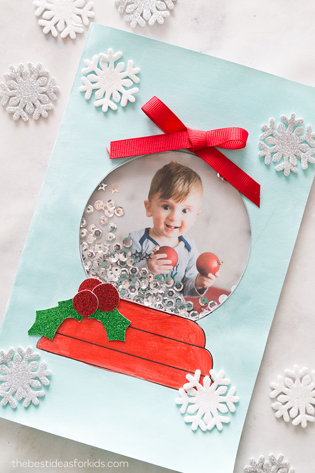 Snow Globe Template Card The Best Ideas For Kids Christmas Cards Kids Diy Christmas Cards Simple Christmas Cards