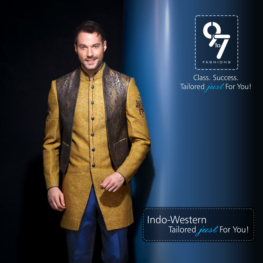 Indowestern just tailored for you call weddings