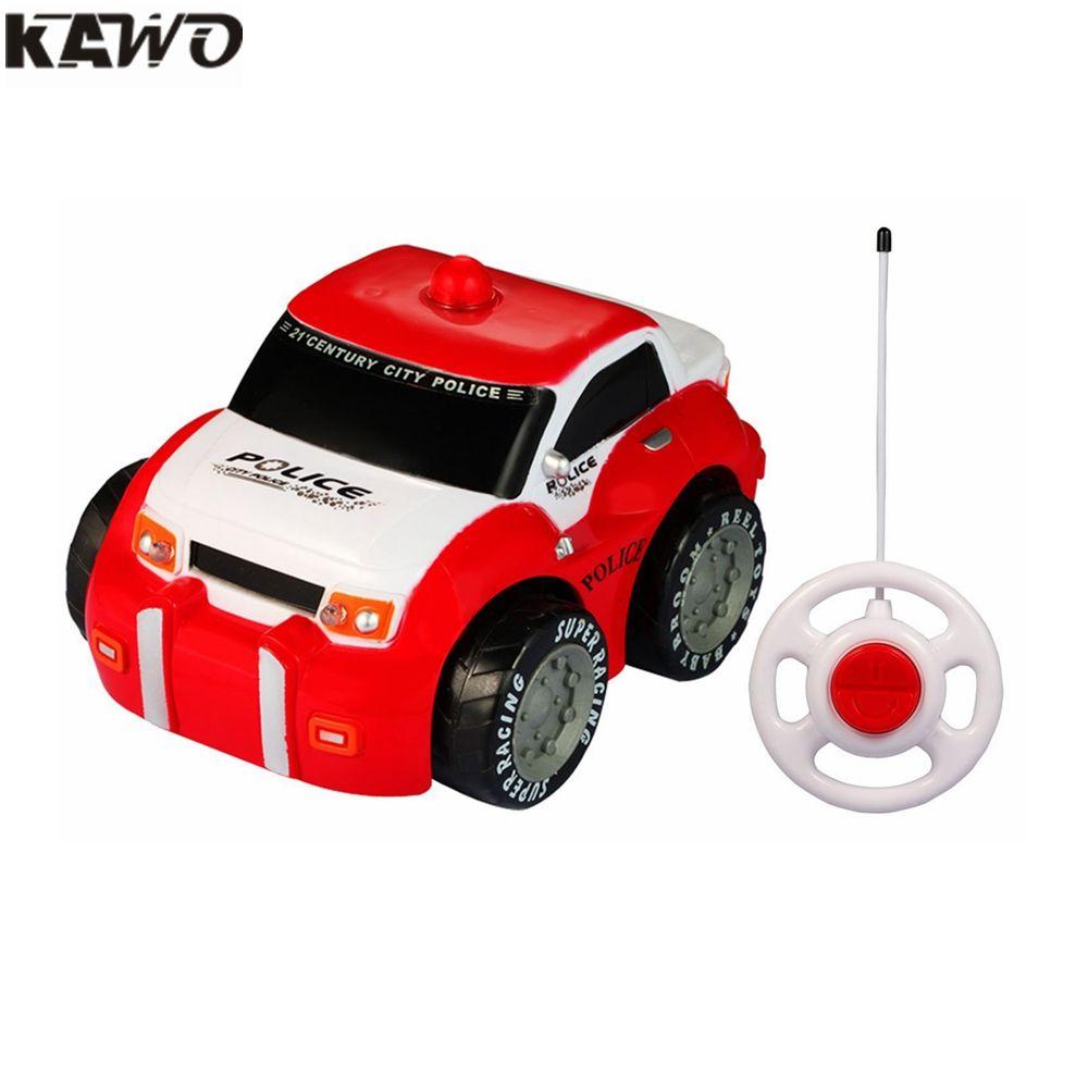 kawo cartoon rc mini race car radio control toy for toddlers and