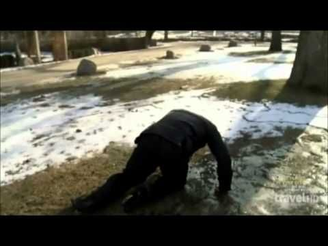 Zak Bagans writing poetry and then falling down haha you must watch(: [actual clip from the show]