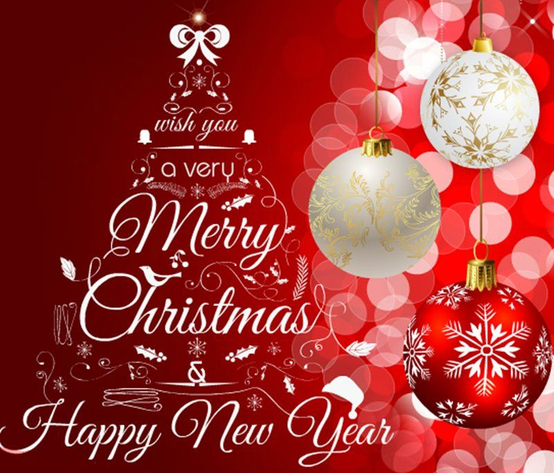 Attractive Merry Christmas And Happy New Year Wishes Quotes Greetings Messages Images  2018