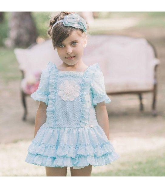 389765686 Vestido verde agua para niña de Dolce Petit Vestido Verde Agua, Vestido  Infantil, Moda