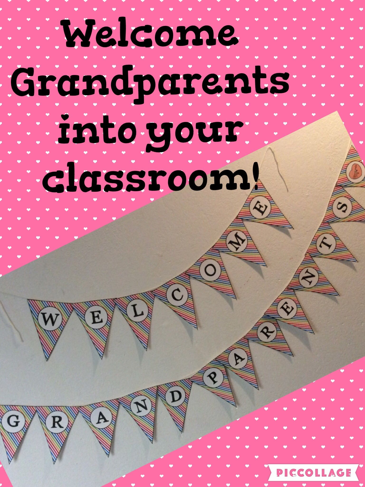 Welcome Grandparents Banner Grandparents Day Activities