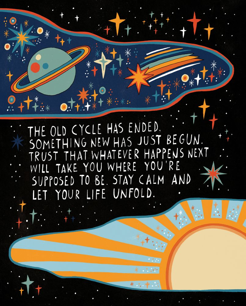 The old cycle has ended Art Print by Asja Boros