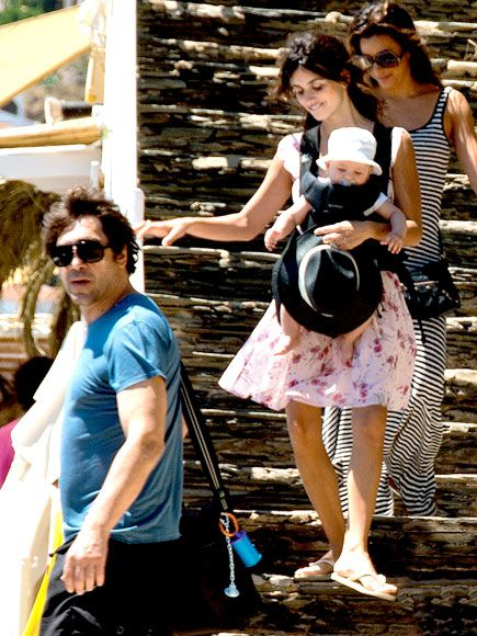 Penelope Cruz was seen with her 6-month-old son Leo on ...