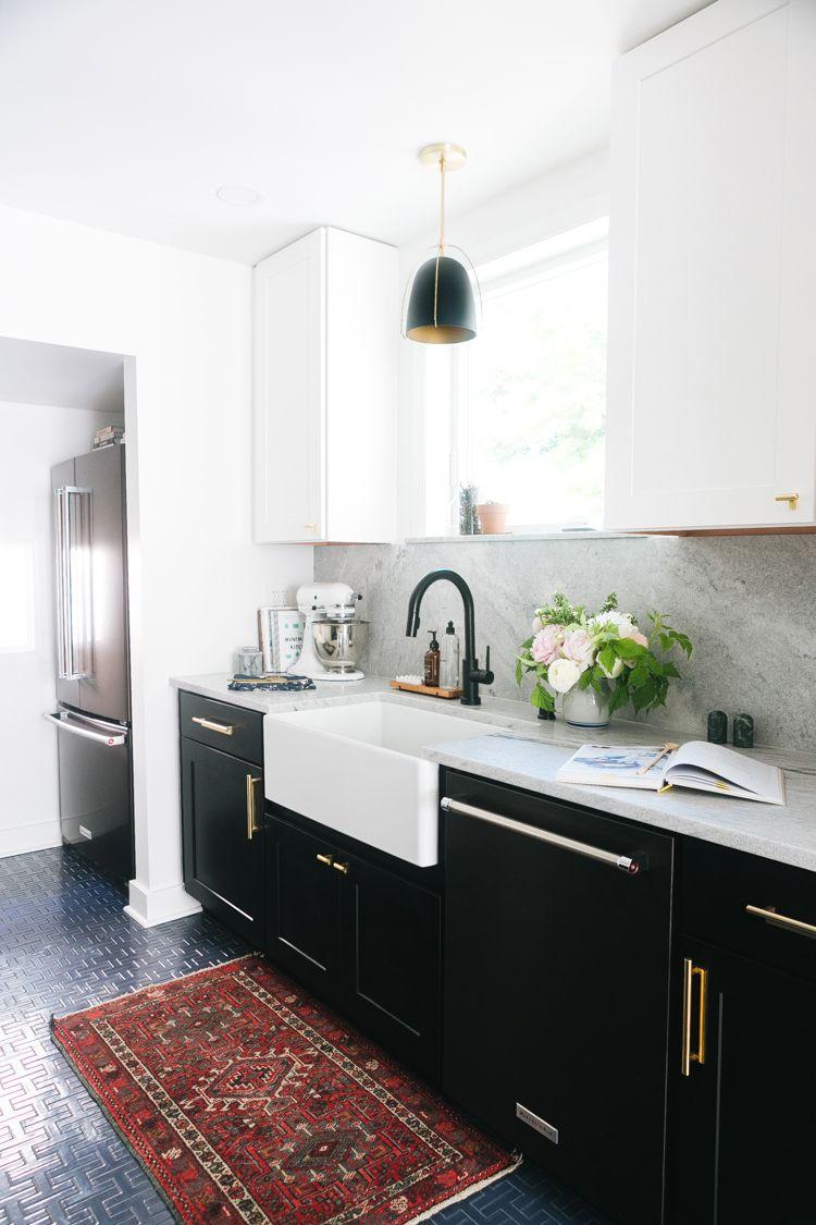Our Tuxedo Kitchen Renovation Reveal Jojotastic Kitchen Remodel Small Kitchen Renovation Small Kitchen Layouts