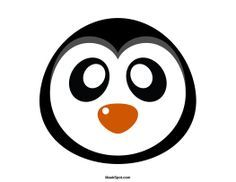 Penguin Mask Templates Including A Coloring Page Version Of The