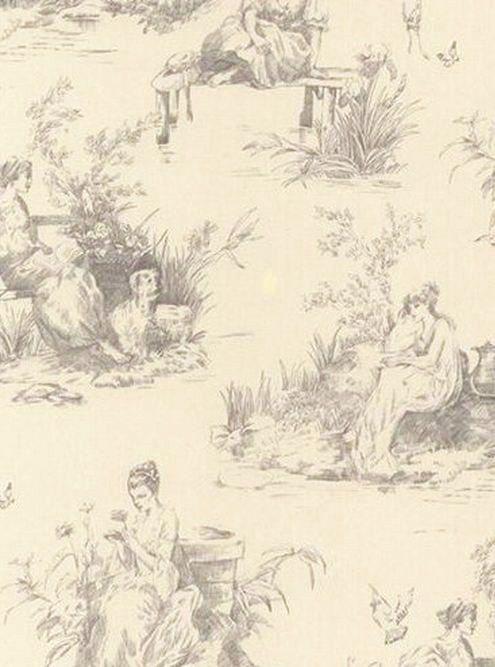 antique cream wallpaper - photo #45
