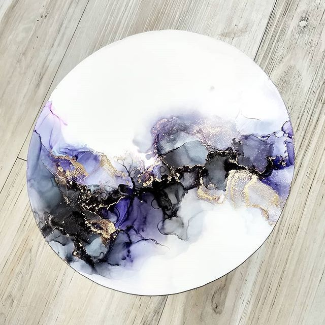 Alcohol Ink Art Gallery on Instagram - Alcohol Ink Art #alcoholinkcrafts