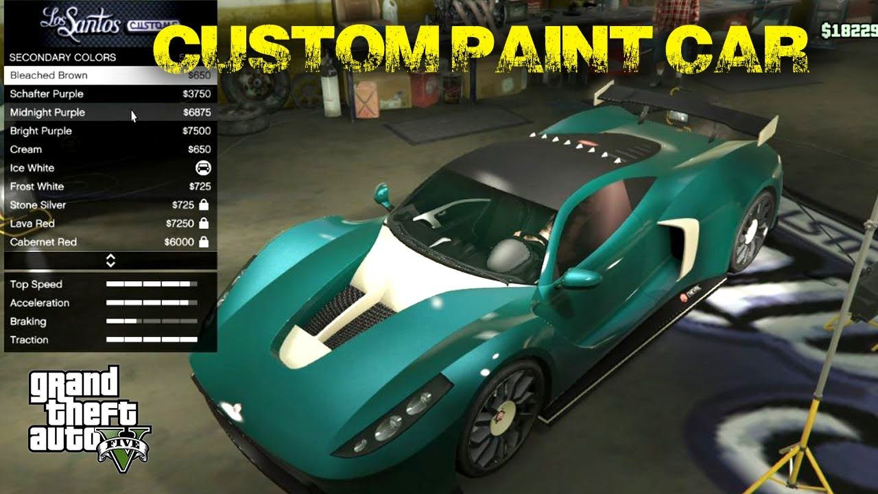 Custom paint on cars gta v online how to custom paint