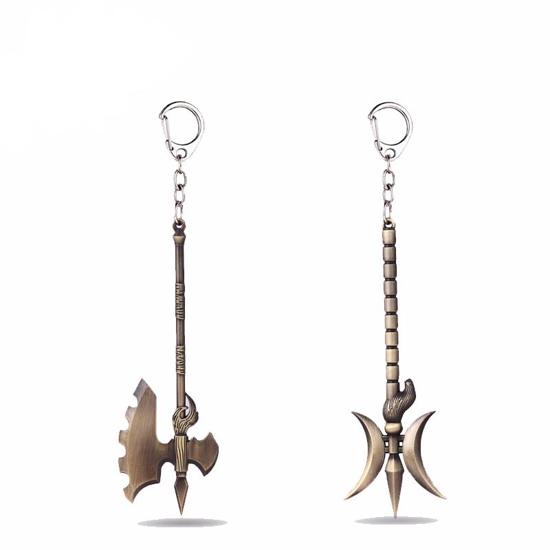 Jaximus League of Legends LOL Weapon Metal Keychain Temple Jax