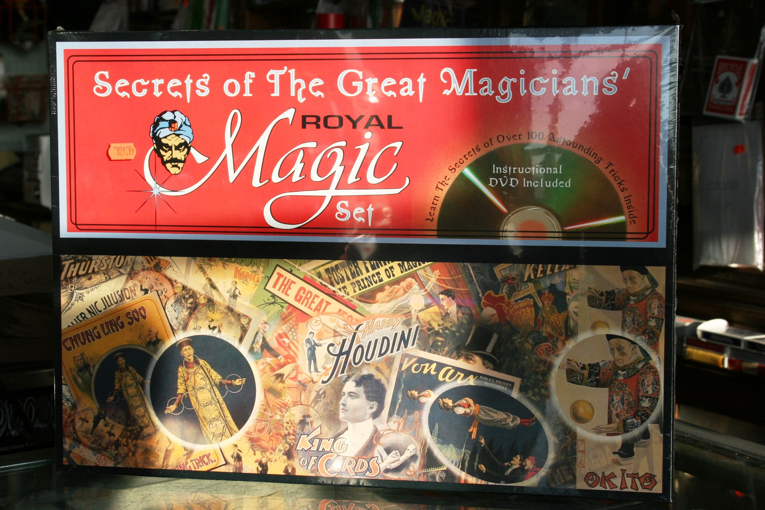 "Complete magic kit from Pike Place Market's famous ""The Magic Shop."" 100 amazing secrets and tricks inside! $30"