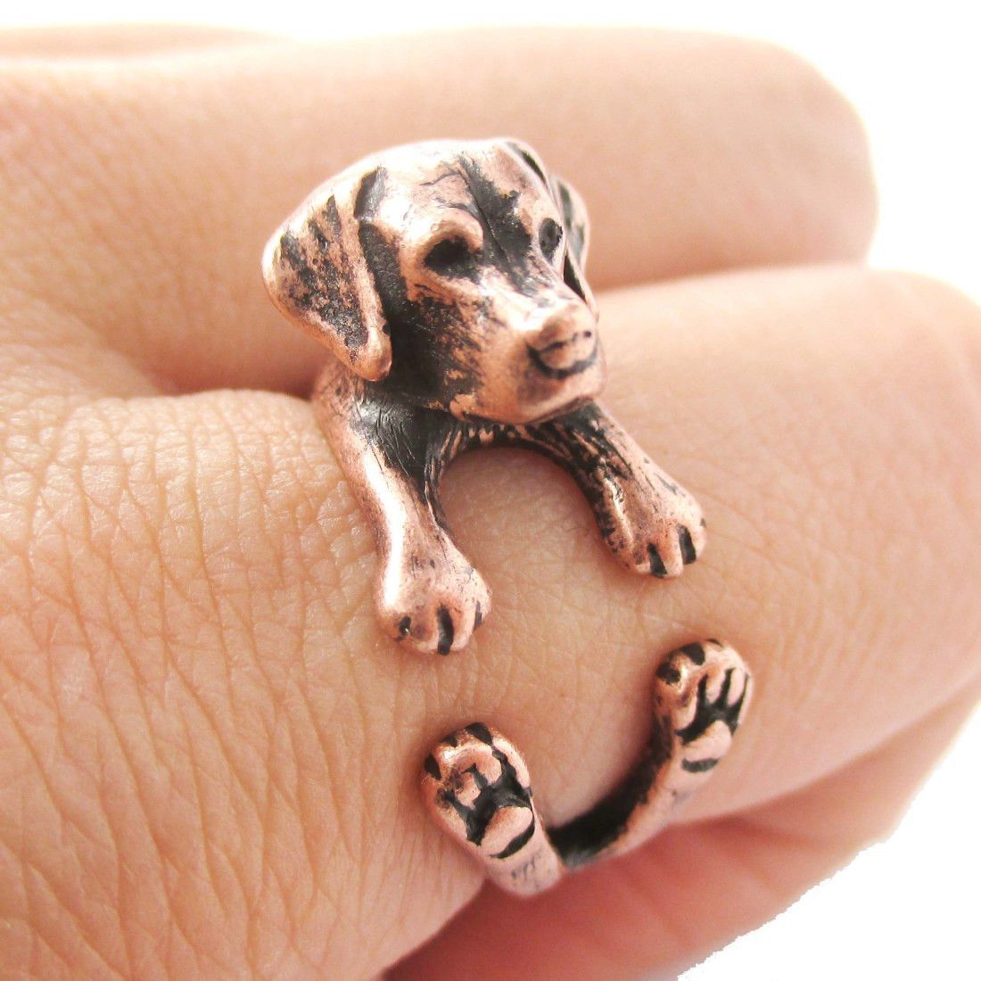 Dog Lover Great Dane Jewelry Handmade 925 Sterling Silver Dog Ring Animal Dog Wrap Ring Adjustable Ring For Women Xmas Gifts