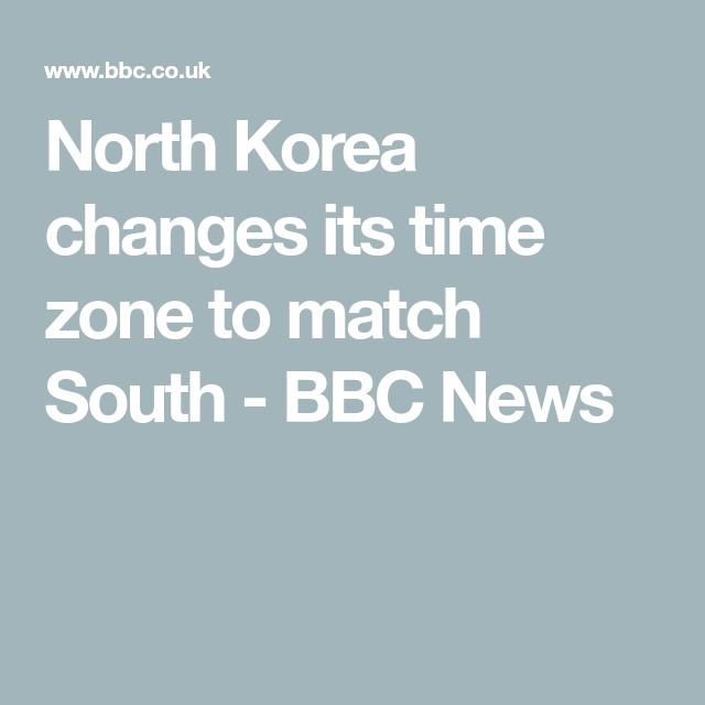 North Korea Changes Its Time Zone North Korea Time Zones Korea