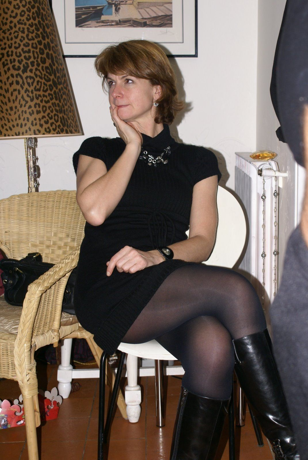pantyhose in opaque Older women