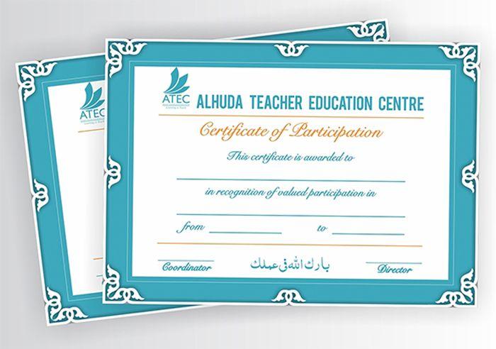 Teacher Training Certificate Free Template Templates Pinterest