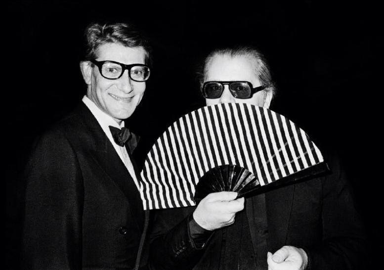 Yves Saint Laurent e Karl Lagerfeld