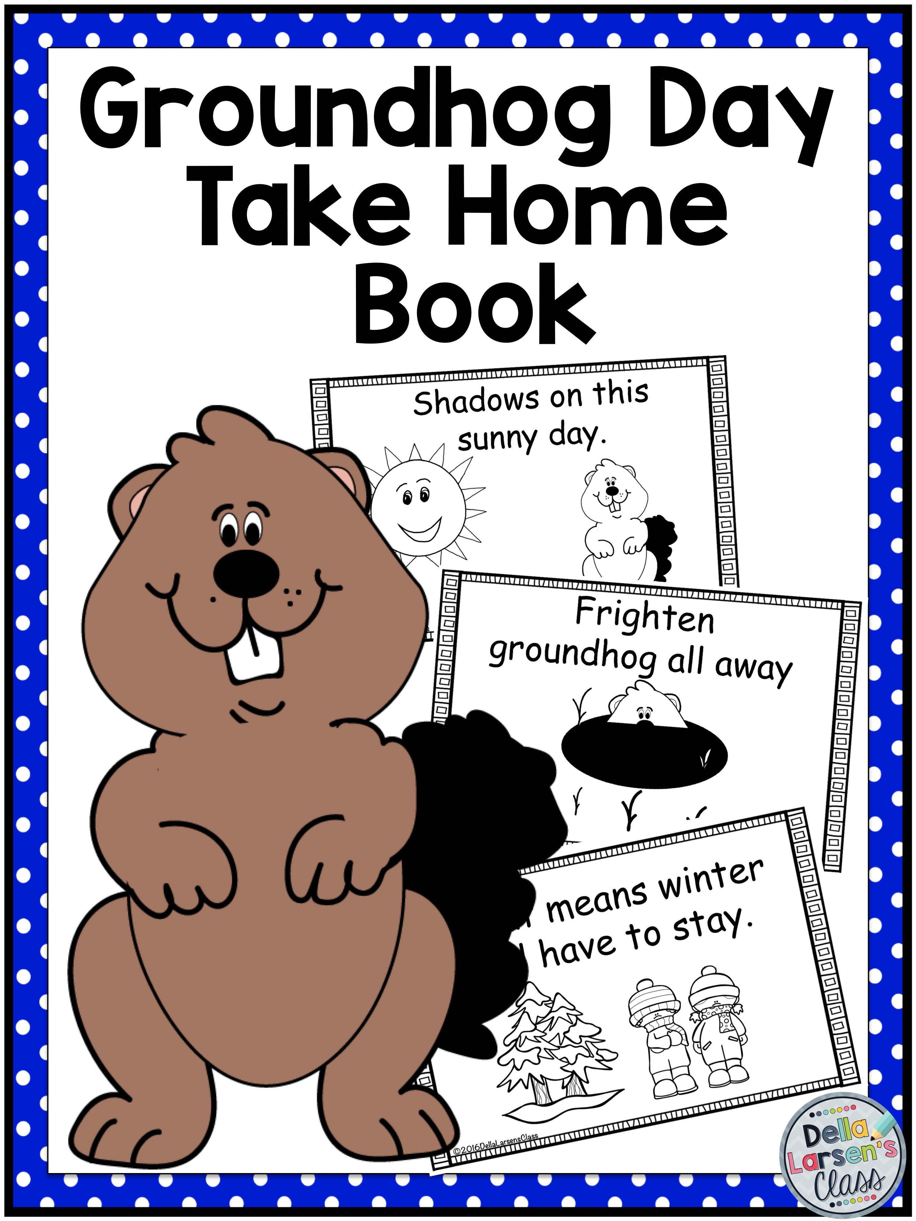 Groundhog Day Mini Book No Prep Printable Mini Book For Groundhog Day No Prep Print And Go Color And Take Mini Books Groundhog Day Kindergarten Resources [ 3998 x 2998 Pixel ]