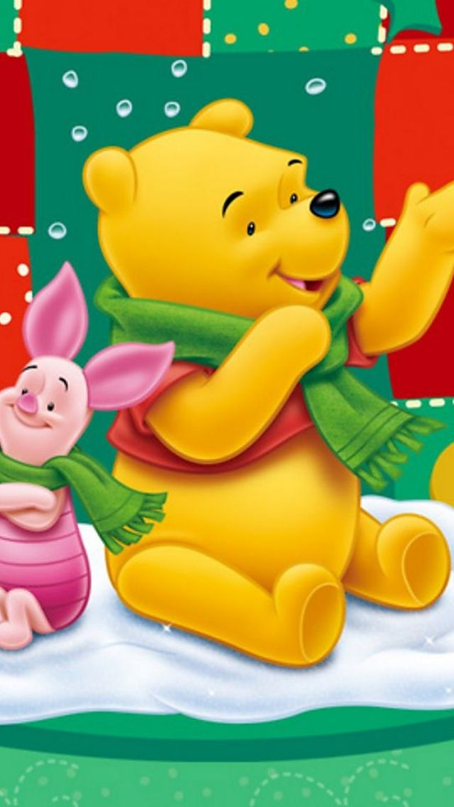 Christmas Winnie The Pooh Iphone Wallpaper Background Cute