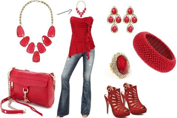 """""""Red, Blue"""" by thegiftedbee on Polyvore"""