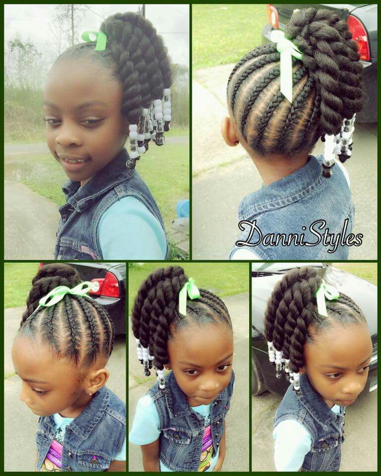 Braided Hairstyles For Girls side swept mohawk for little girl Braids By Dej Meagan Hairstyles Pinterest